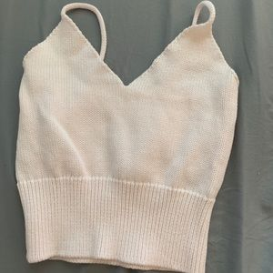 Brandy Melville light pink knitted top